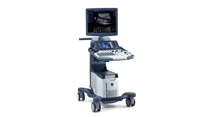 GE Logiq S7 veterinary ultrasound scanner